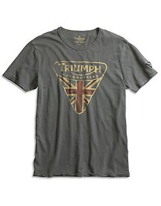 With a back-in-time vibe combined with a contemporary edge, our graphic tees for men don't play by the rules (and neither should you). Team our soft slub cotton Triumph Badge t-shirt, an exclusive collaboration with Triumph Motorcycles, with jeans that have done some hard living; rethink casual with a tailored blazer.