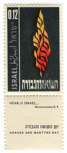 Israel postage stamp: Holocaust Memorial Day by karen horton, via Flickr