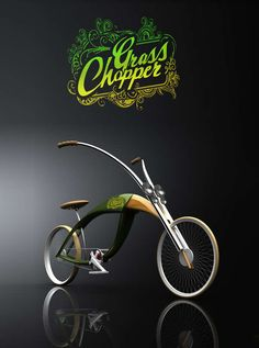 grass chopper bicycle - Inspired by an insect, the Grass Chopper bicycle designed by Mateusz Chmura is as stylish as a cruiser bike can be. A glossy hardwood and lawn-gree...