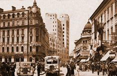 """Bucharest photos from the first decades of the century - mostly from the interwar period (between the two World Wars). ♦ The end of """"Little Paris"""" (click photo) ♦ Little Paris, Click Photo, Beautiful Space, World War Two, All Over The World, Places Ive Been, Past, Photo Wall, Street View"""
