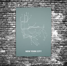 New York City C4 - Acrylic Glass Art Subway Maps (Acrylglas, Underground)