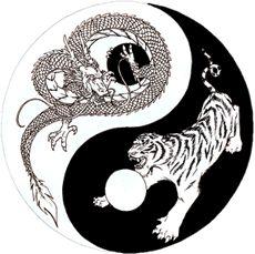 Dragon Tiger Yin Yang sketch by on DeviantArt Dragon Tiger Tattoo, Tiger Dragon, Dragon Art, Dragon Yin Yang Tattoo, Tiger Tiger, Yin Yang Wolf, Yin Yang Art, Yin Yang Tattoos, Future Tattoos