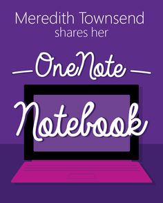 Peek inside the OneNote Notebook of Meredith Townsend as she shares example lesson plans and some of her favorite OneNote tips and tools. Technology Hacks, Teaching Technology, Teaching Tools, Teaching Resources, Medical Technology, Energy Technology, Microsoft Classroom, Microsoft Office, One Note Microsoft