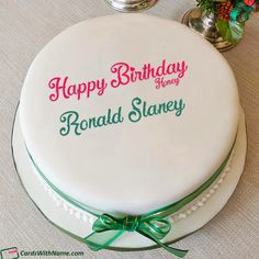 Ronald Slaney Name Cards And Wishes