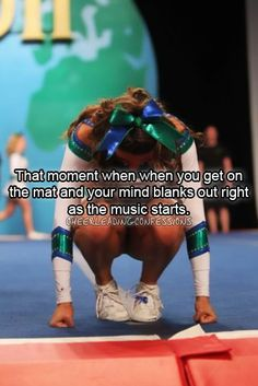 Cheerleading Confessions, scariest moment of my life Cheer Qoutes, Cheerleading Quotes, Gymnastics Quotes, Cheer Stunts, Cheer Dance, Cheer Sayings, Competitive Cheerleading, Cheerleading Videos, Cheerleading Cheers