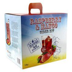 Raspberry & Mango Cider - 40 pint / 23L homebrew cider making FREEPOST UK