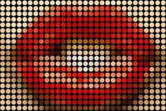 Lips (dots through glass)