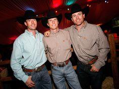 Sean Willingham (L-R) Bull riders Sean Willingham, Justin McBride and Brendon Clarke appear at McBrides retirement party at the Silverton Casino Lodge November 2, 2008 in Las Vegas, Nevada.