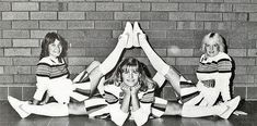 I miss my BFF JSR. Crazy hijinks and such fun! Cheer Team Pictures, Cheerleading Pictures, School Cheerleading, Cheerleading Uniforms, White Knee High Socks, 1980s Pop Culture, Cheer Poses, Band Uniforms, Nfl
