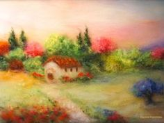 Creating an Italian Landscape in the Technique of Wool Watercolor: articles and DIYs – Livemaster
