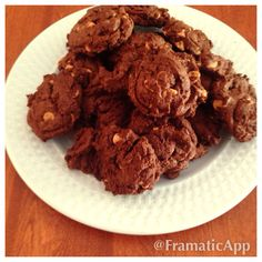 Chocolate fudge peanut butter cookies from scratch. Yummy!