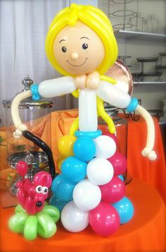Balloon Girl and her balloon dog