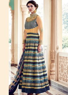 Charming Silk Embroidered #Partywear #AnarkaliSuit