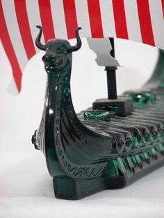 Vintage Avon Dragon Viking Ship Cologne Bottle