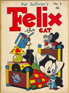 Felix the Cat Comics: Felix Goes on Record by Otto Messmer circa 1953 Vintage Cartoons, Vintage Comic Books, Vintage Comics, Comic Books Art, Classic Cartoon Characters, Classic Cartoons, Cartoon Styles, Comic Book Characters, Old School Cartoons