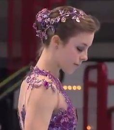 Ashley Wagner, 2010 LP - Purple Figure Skating / Ice Skating dress inspiration for Sk8 Gr8 Designs.