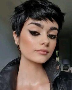 Undercut Hairstyles Women, Pixie Hairstyles, Hairstyles With Bangs, Short Punk Hairstyles, Pixie Haircut For Round Faces, Punk Pixie Haircut, Punk Pixie Cut, Pixie Cut For Round Face, Asian Pixie Cut