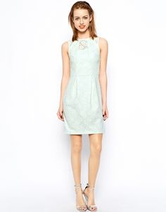 38 11 Image 4 Of New Look Bonded Lace Dress Green Mint Bridal