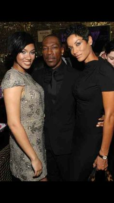 Bria, Eddie & Nicole :) Most Beautiful Black Women, Beautiful Family, Nicole Murphy, Black Families, Daughters, Mothers, African, In Laws, Sisters