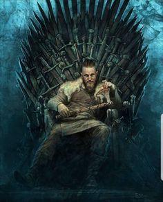 Vikings - Ragnar Lothbrok is the King of the Throne Vikings Tv Show, Watch Vikings, Vikings Game, Vikings Tv Series, Ragnar Lothbrok Vikings, Ragner Lothbrok, Ragnar Lothbrok Quotes, Art Viking, Viking Life