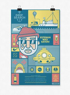 """The Life Aquatic With Steve Zissou"" tribute poster by Viet Huynh"
