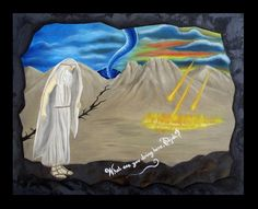 Elias - Elijah - Óleo sobre tela - 65 x 85 cm  1 Reyes 19:11-13 #Artwork #drawing #painting