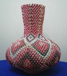 82 best origami 3d images on pinterest modular origami craft and 3d origami origami 3d vase mightylinksfo