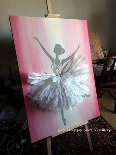 Paint Colors For Kitchen Walls. Uncomplicated wall interior planning recommendations any homeowner could use Ballerina Silhouette, Ballerina Art, Ballet Art, Ballerina Nursery, Ballerina Project, Ballet Dancers, Kids Artwork, Kids Room Art, Art For Kids