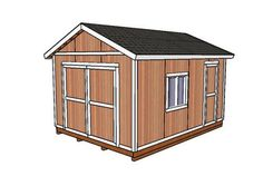 This step by step woodworking project is about free garden shed plans. This storage shed is large enough to provide storage space for the needs of a family. The shed features double front doors and a side man door, for an easy access to the interior. Shed Plans 12x16, Free Shed Plans, Diy Storage Shed Plans, Storage Sheds, Small Storage, Garage Storage, Unique Garden, Shed Construction, Build Your Own Shed