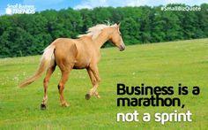 Business is a marathon, not a sprint. #business #success