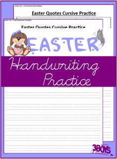 These Printable Easter Worksheets: Cursive Handwriting Practice, will help your upper-elementary aged children work on improving their cursive handwriting including letter formation. Easter Worksheets, Writing Worksheets, Cursive Handwriting Practice, Easter Quotes, Spelling Activities, Letter Formation, Lesson Plans, 3 Boys