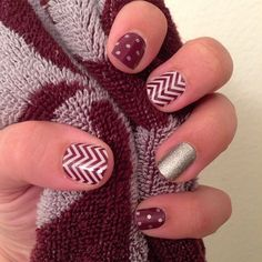 icy boysenberry polka, diamond dust sparkle, and boysenberry chevron jamberry jamicure