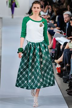 """My first thought was """"Sandy"""" from Grease.  Oscar de la Renta Resort 2013"""
