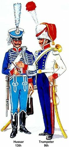 Grand Duchy of Warsaw 1813. Hussar 13th & Trumpeter 9th Cavalry Regiments