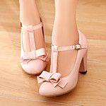Zapatos de mujer - Tacón Robusto - Plataforma / Punta Abierta - Tacones - Vestido - Cuero - Amarillo / Negro / Rosa / Blanco 2017 - $405.84