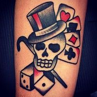 skull traditional tattoo - Buscar con Google