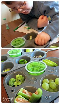 Do you have picky eaters?  What are your tricks for getting them to try new foods?   Fun Green Food Taste Testing for Picky Eaters on St. Patrick's Day [with a FREE Printable Chart!] at B-Inspired Mama