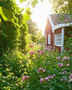 Red Cottage, Cottage In The Woods, Swedish House, Swedish Style, Scandinavian Cabin, Summer Cabins, My Ideal Home, Amazing Spaces, Farm Life