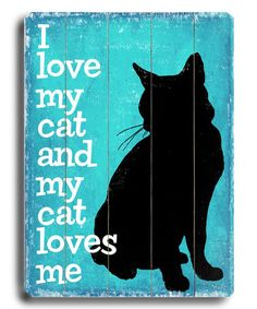 Look at this #zulilyfind! 'I Love My Cat' Wall Plaque by ArteHouse #zulilyfinds