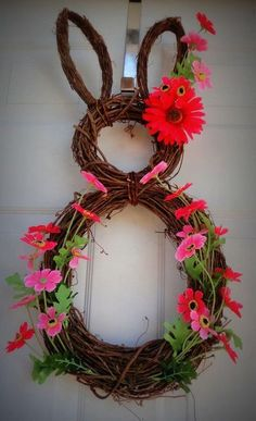 Easter bunny wreath! Easter Decor in full swing!