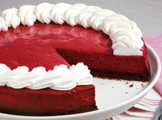 Looking for a popular dessert using Betty Crocker® SuperMoist® cake mix? Then try this delicious red velvet cheesecake that's decorated with whipped topping - a must for all chocolate lovers.