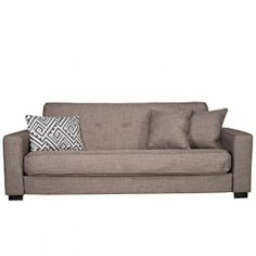 angelo:HOME Alden Convert-a-Couch® in Smoke Gray Sand - from Mor Furniture! perfect for my little apartment