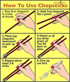 Laughing Chakra: How to Use Chopsticks [Funny Edition]