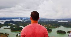 """On top of the world""  #colombia #guatape #igerscolombia #igersguatape #elpenon #therockofguatape #lake #rock #holidays #traveling #travelgram #vacance #vacation #vacacion #travel #sky #green #view"