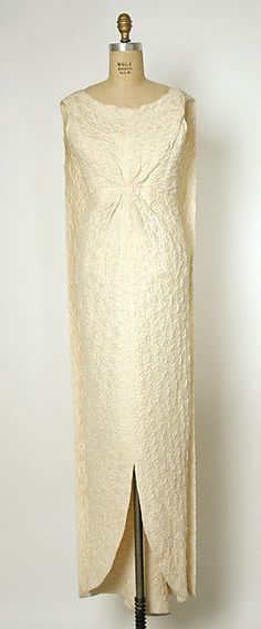Evening dress Design House: House of Balenciaga (French, founded 1937) Designer: Cristobal Balenciaga (Spanish, Guetaria, San Sebastian 1895–1972 Javea) Date: 1960–63 Culture: French Medium: silk