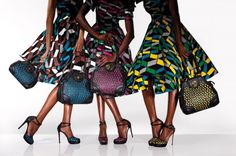 Beautiful wax-print patterns and great photography. Vlisco does it again!