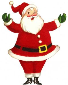 Vintage Retro Santa Claus Full Size | The Doodle Place