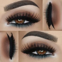 Eye Makeup Tips – How To Apply Eyeliner Fall Makeup, Love Makeup, Simple Makeup, Makeup Inspo, Makeup Ideas, Makeup Designs, Makeup Kit, Edgy Makeup, Makeup Stuff