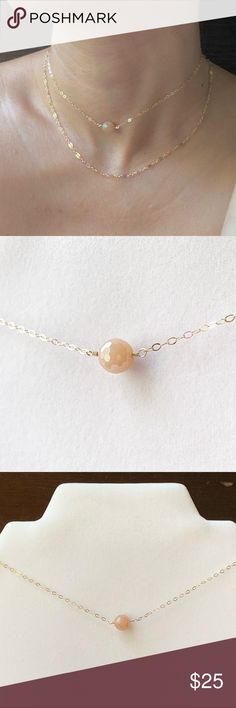 Natural Rose Quartz Gold Plated Pendant Necklace Energy Gemstone For Women Handmade Pear Fashion Beads