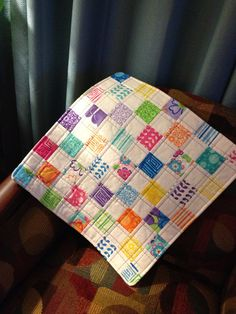 A Quilt of Brights and Girlie Are In This by WrappingYouInWarmth, $14.50